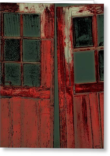 The Red Doors Greeting Card