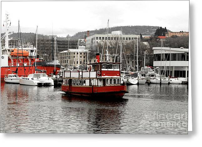 The Red Ferry Greeting Card