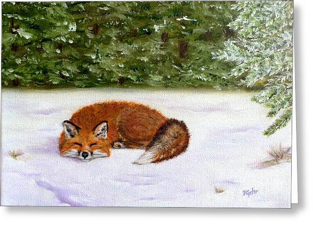 The Red Fox Of Winter Greeting Card