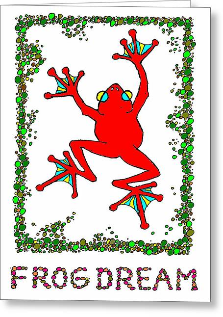 The  Red  Frog   Greeting Card by Hartmut Jager