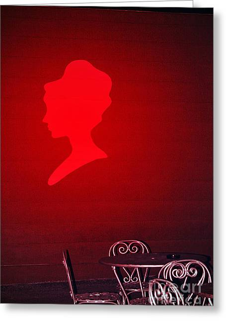 The Red Lady Greeting Card by Trish Mistric