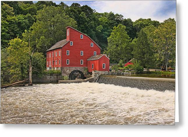 The Red Mill The Day After Irene Greeting Card