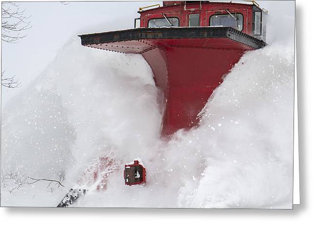 The Red Monster-railway Plow Greeting Card