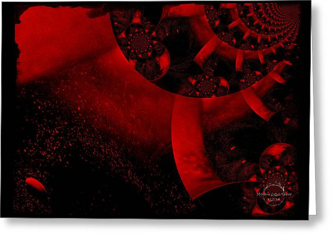 The Red Planet Cometh Greeting Card by Absinthe Art By Michelle LeAnn Scott