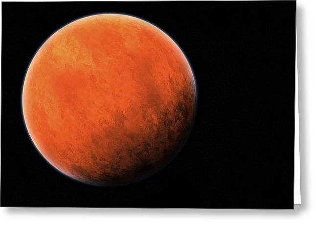 The Red Planet Greeting Card by Daniel Sicolo