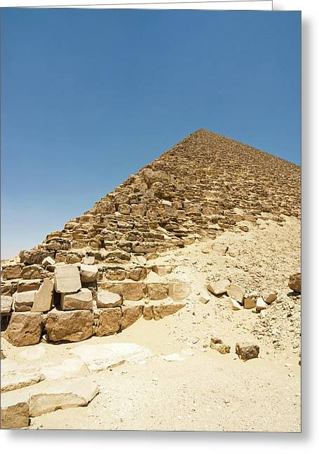 The Red Pyramid At Dashur, Senefru Or Greeting Card by Nico Tondini