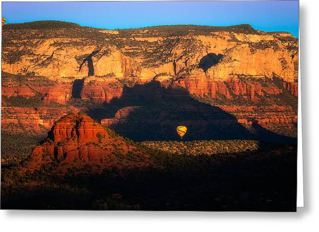 The Red Rocks Of Sedona With Balloons Greeting Card