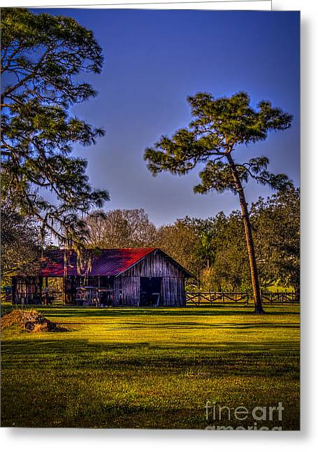 The Red Roof Barn Greeting Card by Marvin Spates