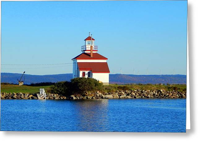 The Greatest Little Lighthouse In Canada Greeting Card by Karen Cook