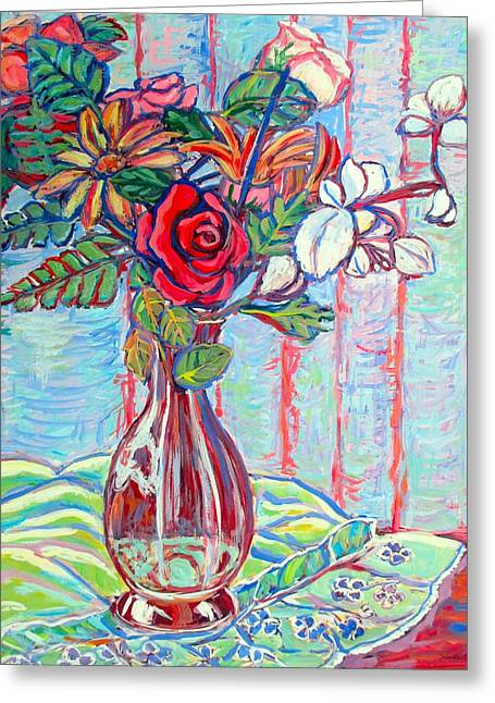 The Red Rose Greeting Card by Kendall Kessler