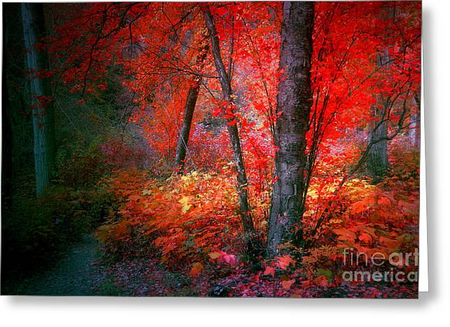 The Red Tree Greeting Card by Tara Turner