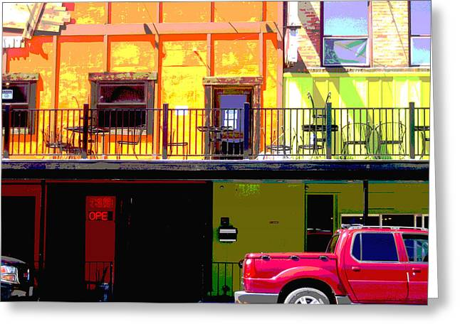 The Red Truck Greeting Card by Ann Powell
