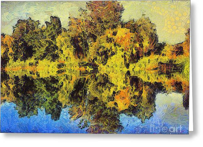 The Reflections Greeting Card by Odon Czintos