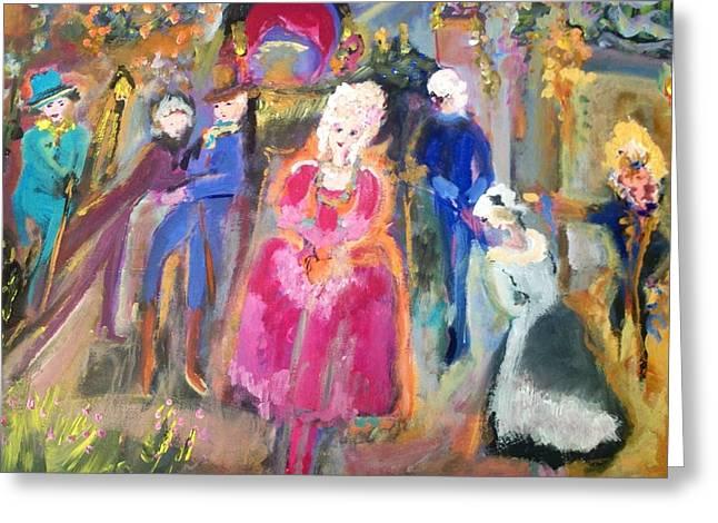 The Regency Ballet Greeting Card by Judith Desrosiers