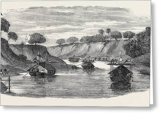 The Regiment Of Loodianah Gordons Sikhs On Their Voyage Greeting Card