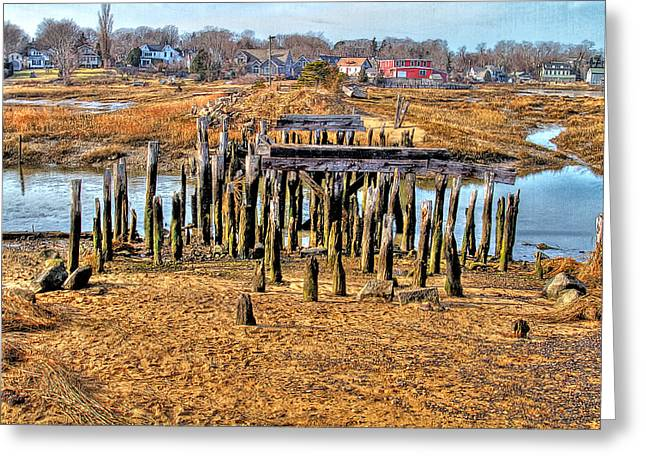 The Remains Of A Wellfleet Bridge Greeting Card by Constantine Gregory