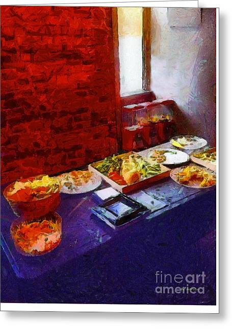 The Remains Of The Feast Greeting Card by RC deWinter