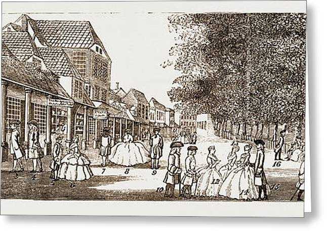 The Remarkable Characters Who Were At Tunbridge Wells Greeting Card by Litz Collection