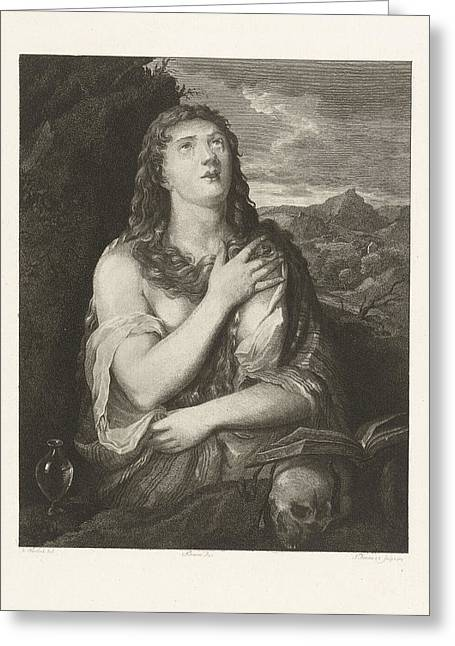 The Repentance Of Mary Magdalene, Joannes Bemme Greeting Card by Joannes Bemme