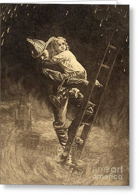 The Rescue 1888 Greeting Card by Padre Art