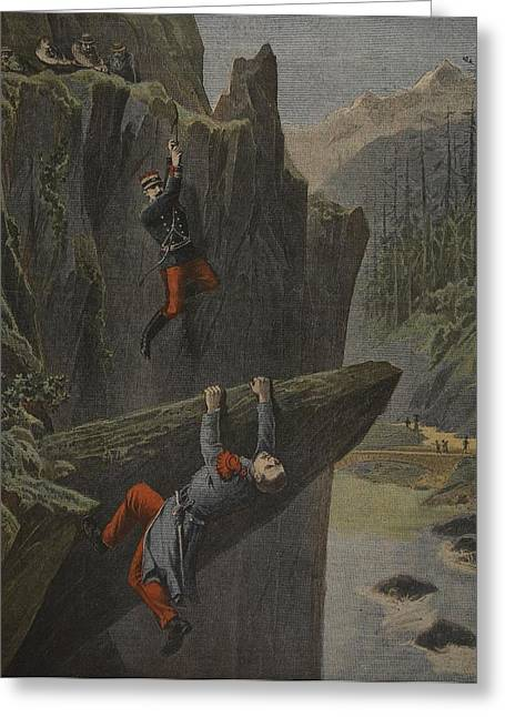 The Rescue Of A Soldier, Illustration Greeting Card by Henri Meyer