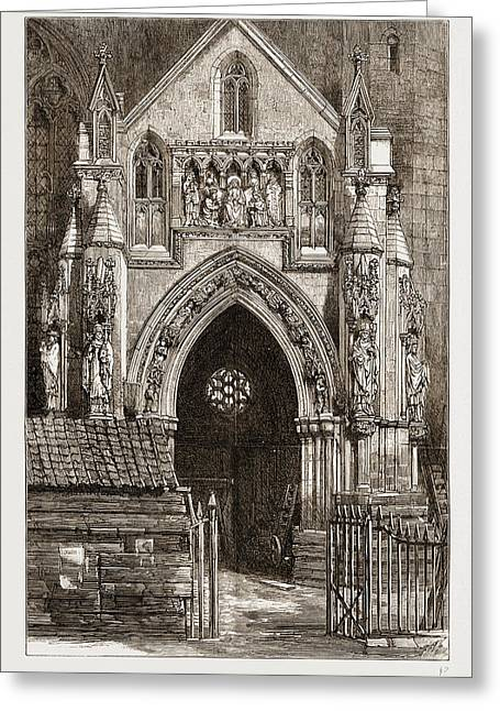 The Restoration Of Bristol Cathedral, Uk Greeting Card