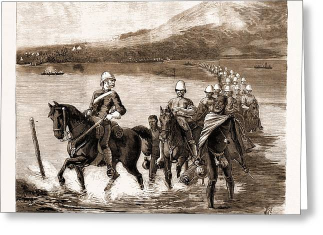 The Restoration Of Cetewayo The Military Escort Crossing Greeting Card