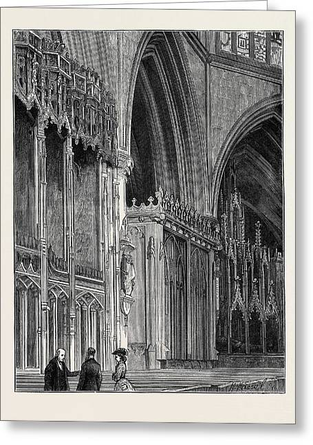 The Restoration Of Tewkesbury Abbey The Countess Greeting Card