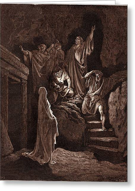 The Resurrection Of Lazarus, By Gustave Dore Greeting Card