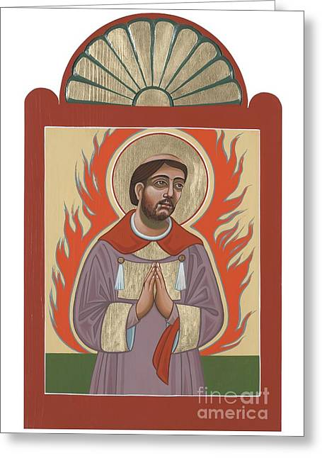 Greeting Card featuring the painting The Retablo Of San Lorenzo Del Fuego 253 by William Hart McNichols