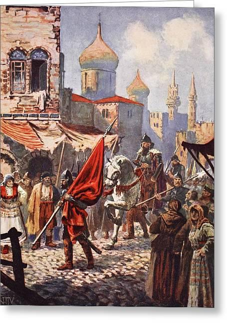 The Return Of Ivan The Terrible Greeting Card by John Harris Valda