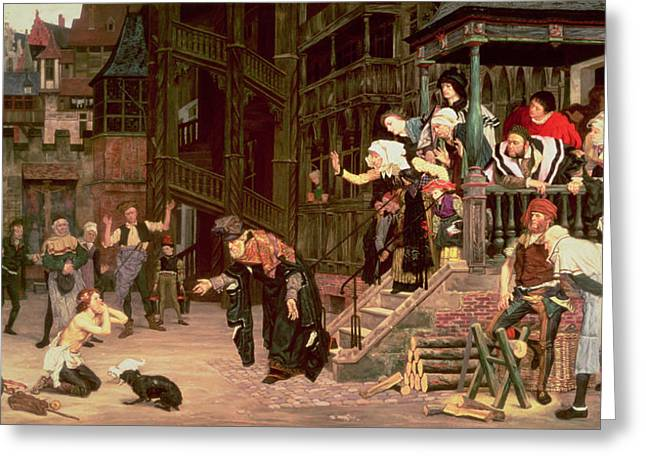 The Return Of The Prodigal Son, 1862 Oil On Canvas Greeting Card