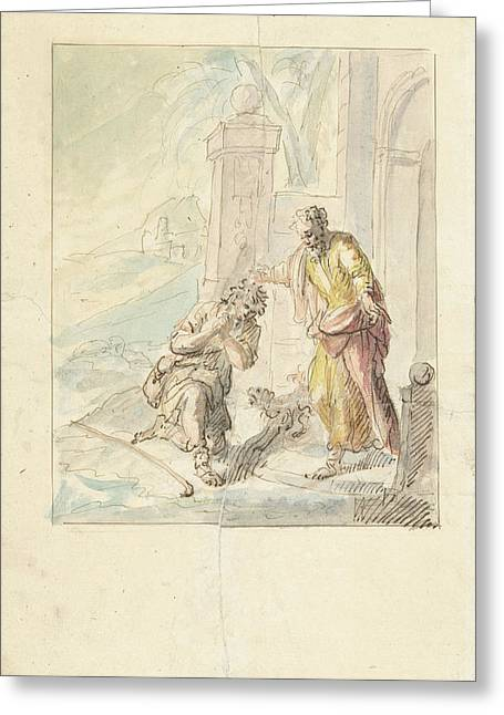 The Return Of The Prodigal Son, Elias Van Nijmegen Greeting Card by Quint Lox