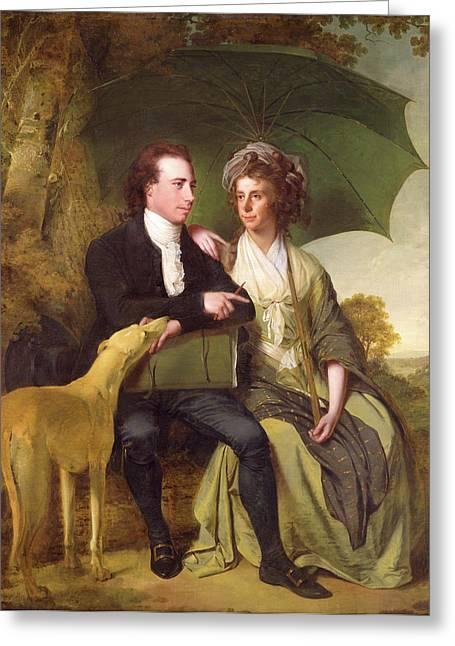 The Rev. And Mrs. Thomas Gisborne, Of Yoxhall Lodge Greeting Card