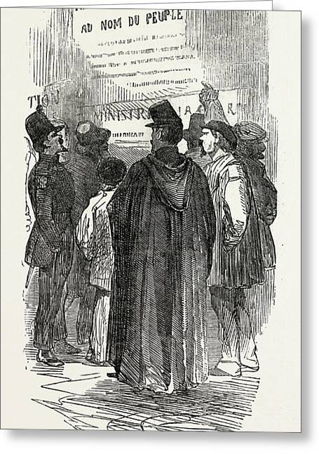 The Revolution In France Reading The Proclamations Greeting Card
