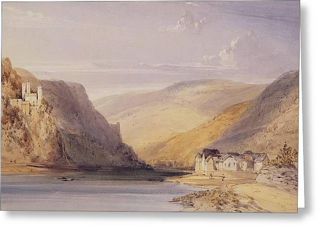 The Rhine At Assmannshausen Greeting Card by William Callow