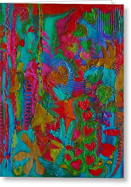 Greeting Card featuring the mixed media The Rhythm Of Life by Catherine Redmayne
