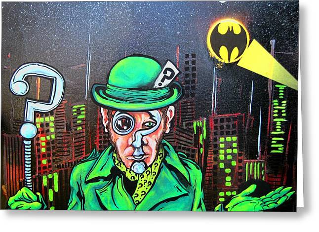 The Riddler Greeting Card by Jacob Wayne Bryner