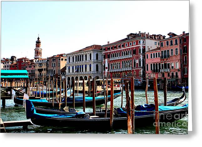 The Ride Venice Italy Greeting Card by Tom Prendergast