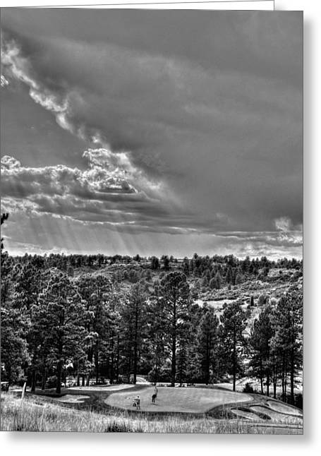 Greeting Card featuring the photograph The Ridge Golf Course by Ron White