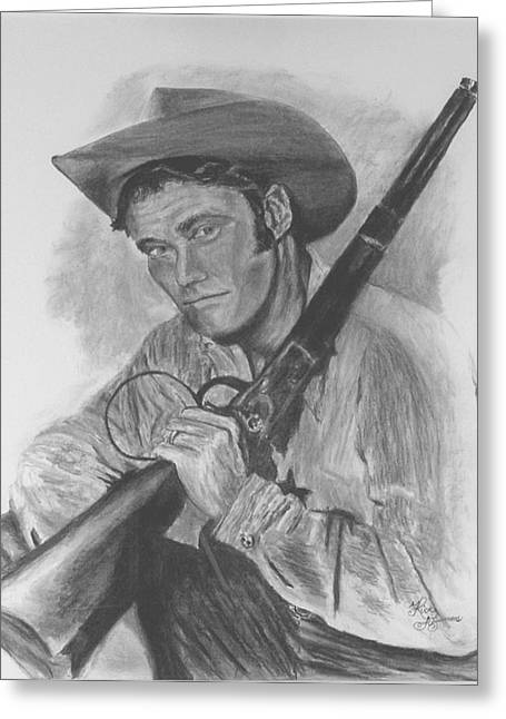 The Rifleman Greeting Card by Rick Fitzsimons