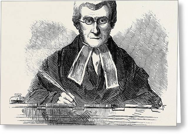 The Right Hon. Lord Campbell, Lord Chief Justice Greeting Card by English School
