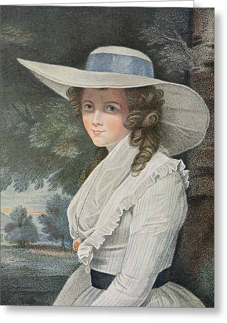 The Right Honourable Countess Spencer D.1831 Engraved By Francesco Bartolozzi 1727-1815, Pub Greeting Card