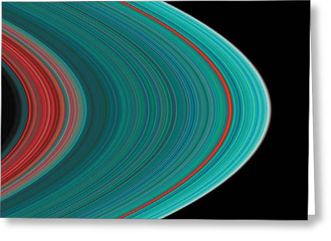 The Rings Of Saturn Greeting Card by Anonymous