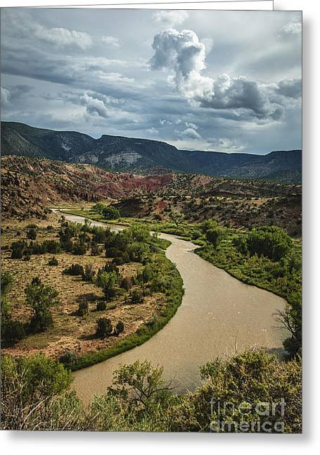 The Rio Chama Greeting Card by Terry Rowe