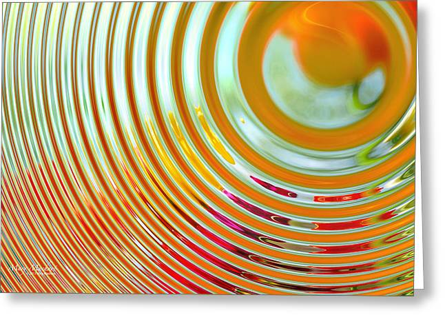 The Ripple Effect Greeting Card by Mary Machare