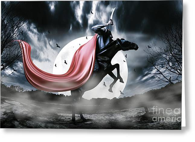 The Rise Of The Headless Horseman Greeting Card by Jorgo Photography - Wall Art Gallery