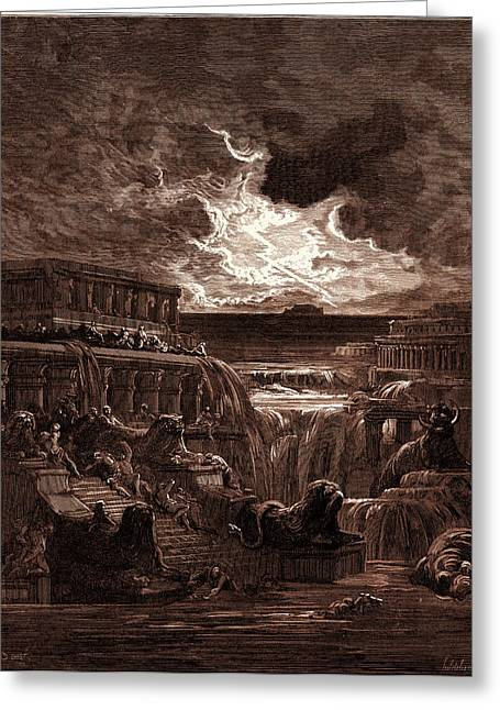 The Rising Of The Waters, By Gustave Dore Greeting Card