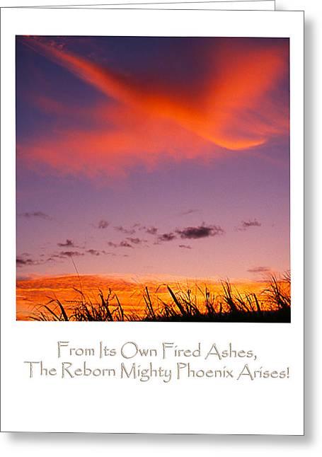 The Rising Phoenix Greeting Card by Ken Evans