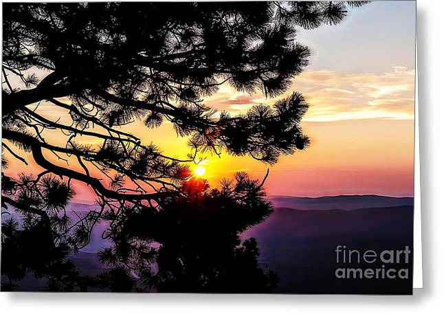 The Rising Sun-2 Greeting Card by Nancy Marie Ricketts